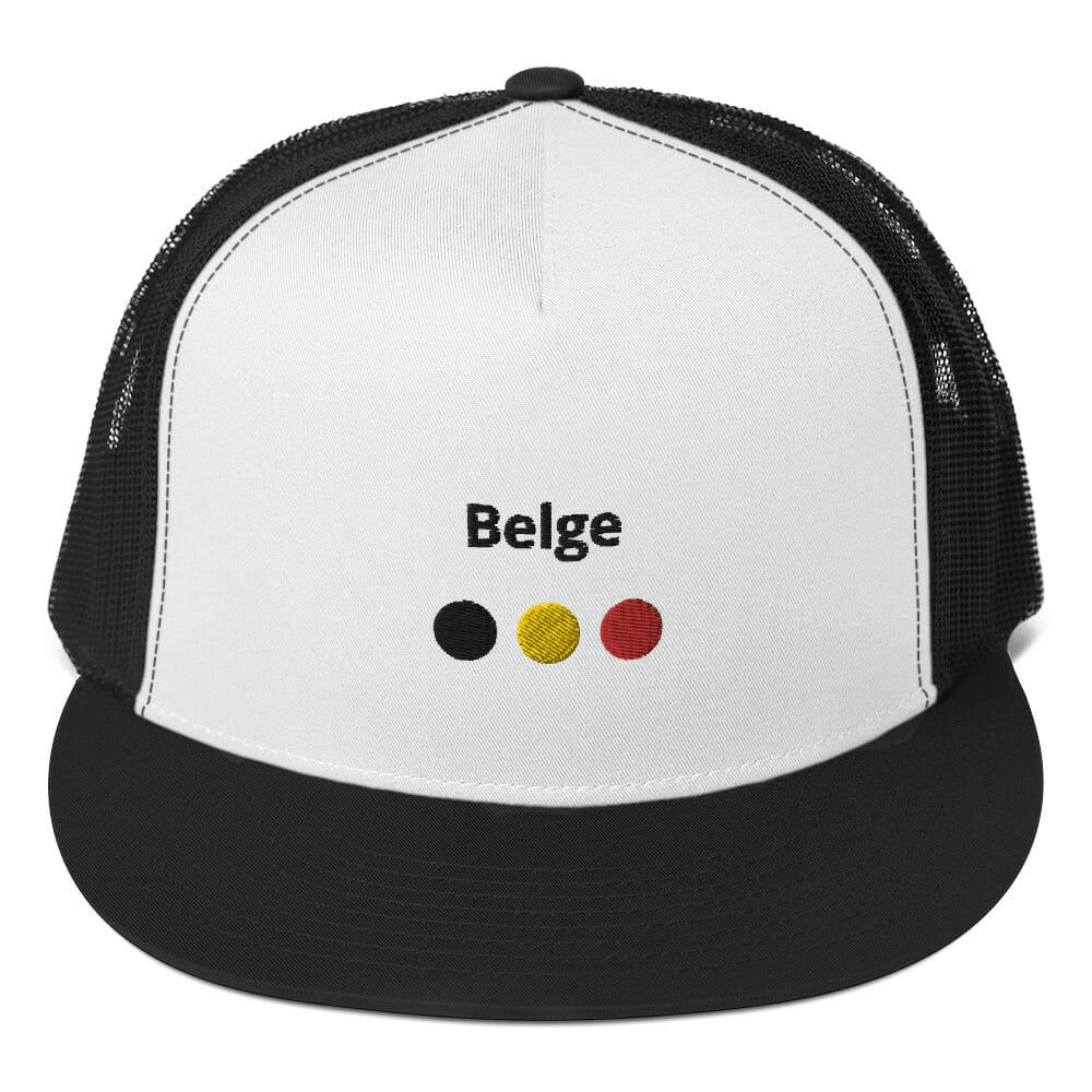 CASQUETTE TRUCKER BELGE NOIR