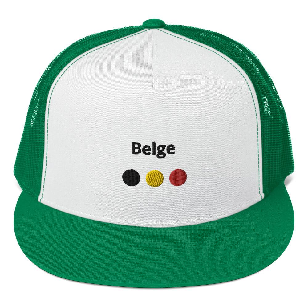CASQUETTE TRUCKER BELGE VERTE