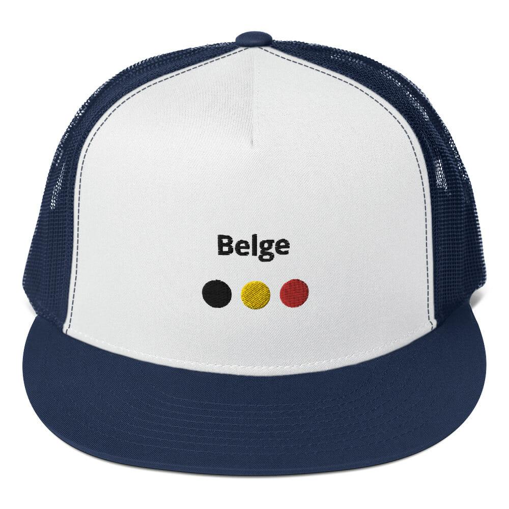 CASQUETTE TRUCKER BELGE BLEU MARINE