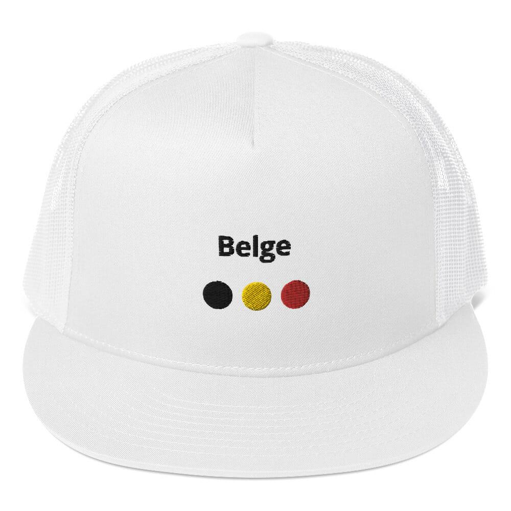 CASQUETTE TRUCKER BELGE BLANCHE