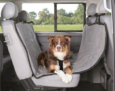 Trixie auto-hondendeken 4-seasons zwart grijs